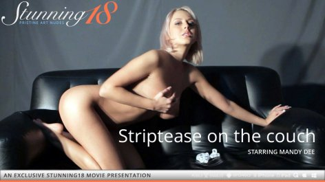Striptease on the couch