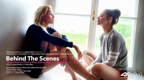 Behind The Scenes: Alyssa Reece, Cherry Kiss, Allatra Hot, Kate Rich On Location